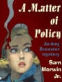 A Matter of Policy book cover